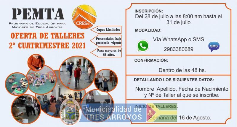 imagen 2 de la noticia PEMTA - INSCRIPCIONES 2021 - 2º CUATRIMESTREpublicada el 2021-07-27