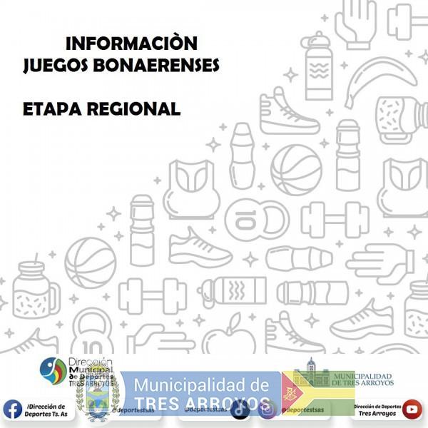 imagen 1 de la noticia JUEGOS BONAERENSES - ETAPA REGIONALpublicada el 2021-09-14