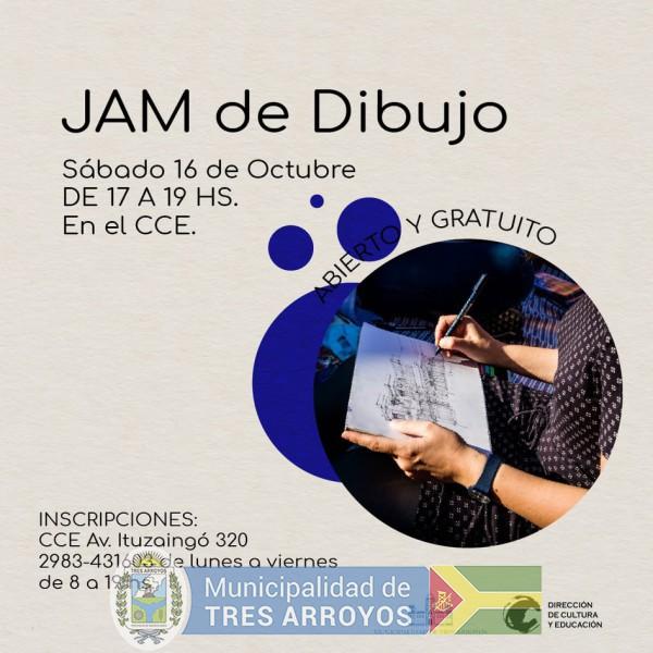 imagen 1 de la noticia JAM DE DIBUJO EN EL CENTRO CULTURAL LA ESTACIÓNpublicada el 2021-10-12