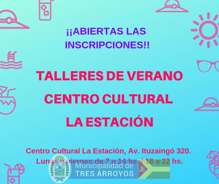 imagen 1 de la noticia TALLERES DE VERANO EN EL CENTRO CULTURAL LA ESTACIONpublicada el 2019-01-10