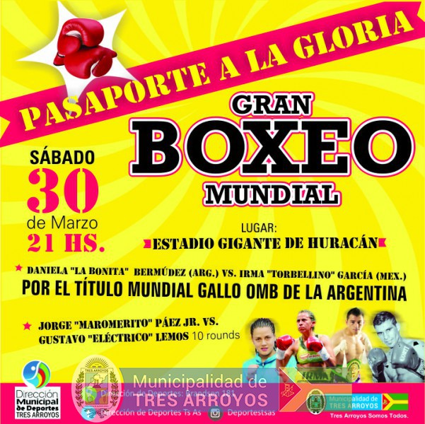 imagen 1 de la noticia PROGRAMACION FESTIVAL DE BOXEO DE PELEAS PROFESIONALESpublicada el 2019-03-22