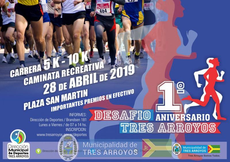 imagen 1 de la noticia Carrera desafío Aniversario de Tres Arroyospublicada el 2019-03-25