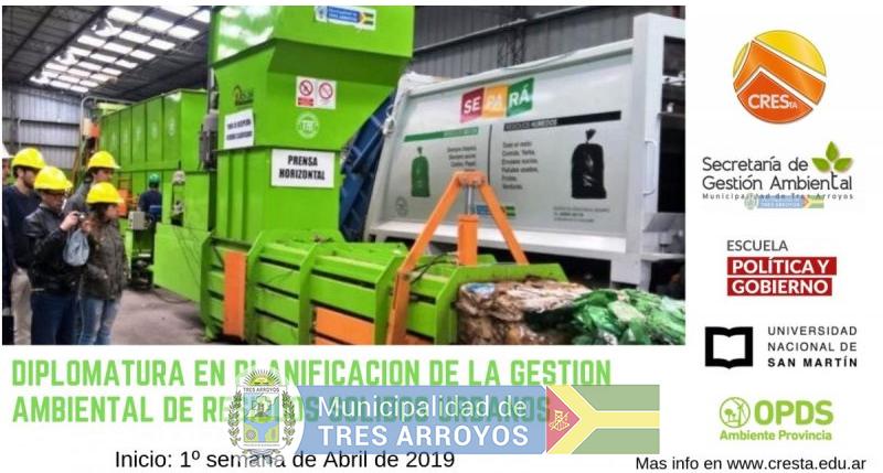 imagen 1 de la noticia Diplomatura en Planificación de la Gestión Ambiental de Residuos Solidos Urbanos   publicada el 2019-04-11
