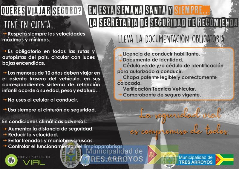 imagen 1 de la noticia Seguridad Vial en Semana Santa publicada el 2019-04-17