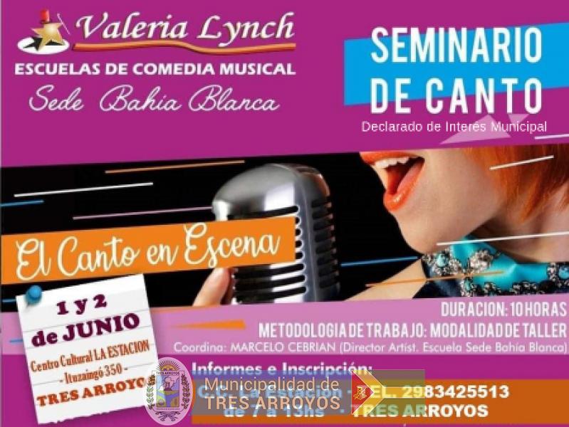 imagen 1 de la noticia ULTIMOS CUPOS  SEMINARIO DE CANTO