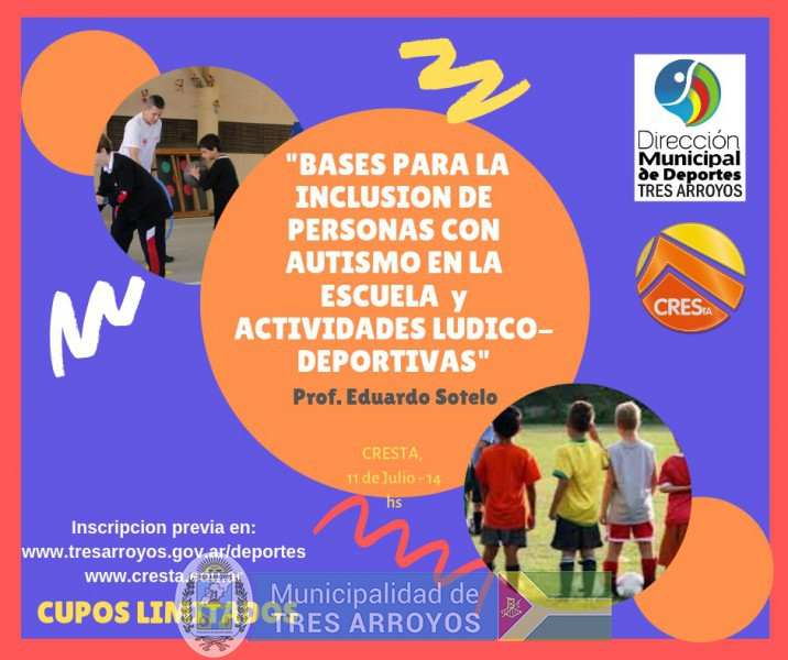 imagen 1 de la noticia Inscriben para la capacitación sobre la inclusión de personas con autismo en la escuela y el deportepublicada el 2019-07-04
