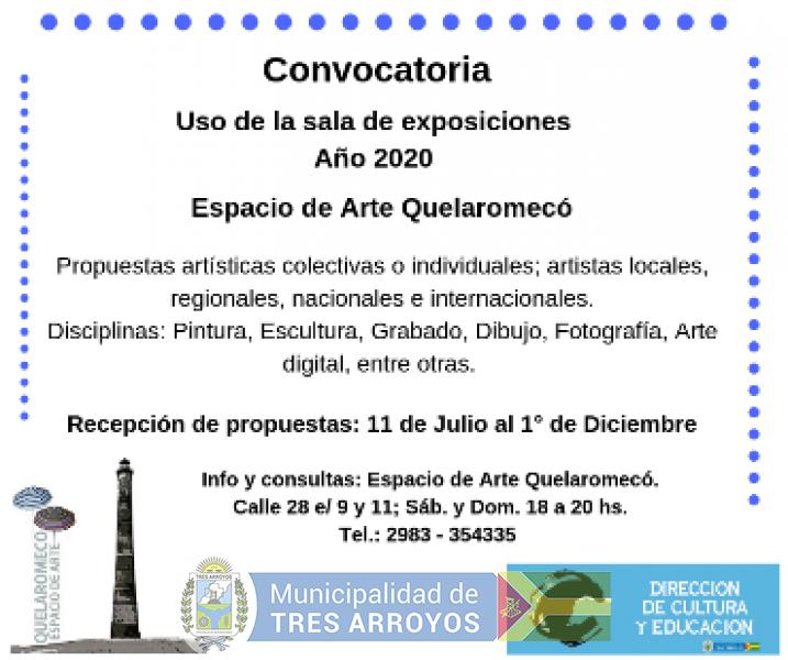imagen 1 de la noticia Espacio de Arte Quelaromeco: Convocatoria uso de sala año 2020publicada el 2019-07-10