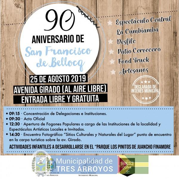 imagen 1 de la noticia Fiesta del pueblo: San Francisco de Bellocq festeja su 90º aniversariopublicada el 2019-08-14