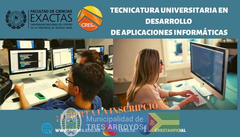 imagen 1 de la noticia Se encuentra abierta la inscripción para la Tecnicatura Universitaria en Desarrollo de Aplicaciones Informáticas en CRESTApublicada el 2019-08-14