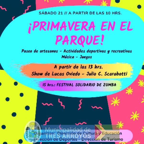 imagen 1 de la noticia El Municipio realiza festejos por el día de la primavera en Parque Cabañaspublicada el 2019-09-18