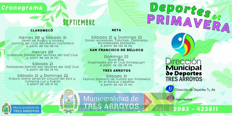 imagen 1 de la noticia Primavera: el municipio invita a participar de las diversas actividades organizadas en el distritopublicada el 2019-09-19