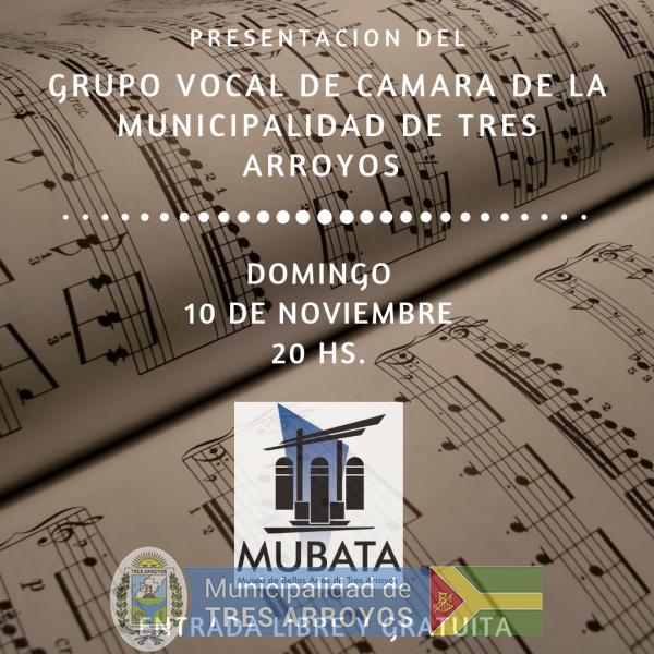 imagen 1 de la noticia   Grupo Vocal de Camara de la Municipalidad de Tres Arroyos en concierto publicada el 2019-11-06