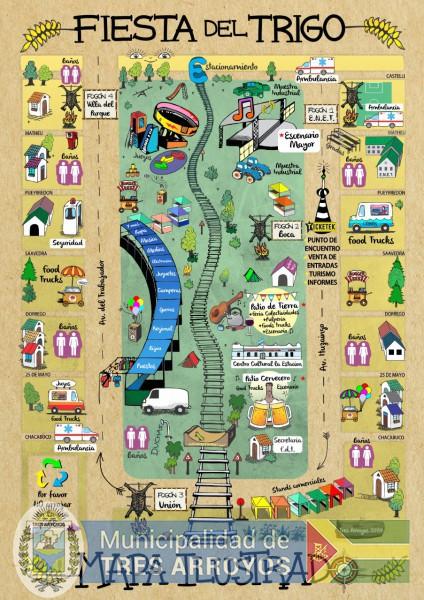 imagen 1 de la noticia Ya esta disponible el mapa ilustrado de la 51º de la Fiesta del Trigopublicada el 2020-02-26