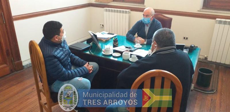imagen 1 de la noticia Hugo Fernandez con el Sindicato Municipalpublicada el 2020-05-19