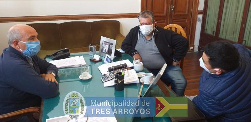 imagen 4 de la noticia Hugo Fernandez con el Sindicato Municipalpublicada el 2020-05-19