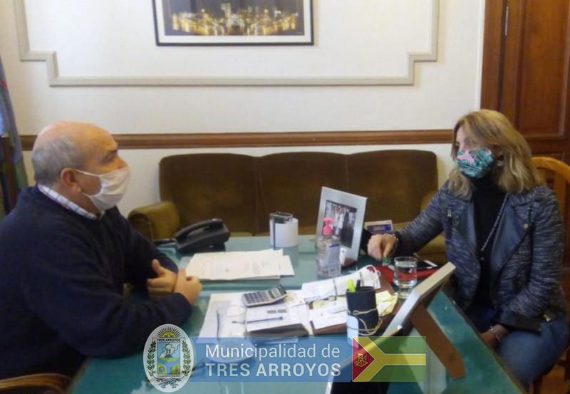 imagen 1 de la noticia Hugo Fernández recibió a la directora ejecutiva de la Cámara Económicapublicada el 2020-06-29