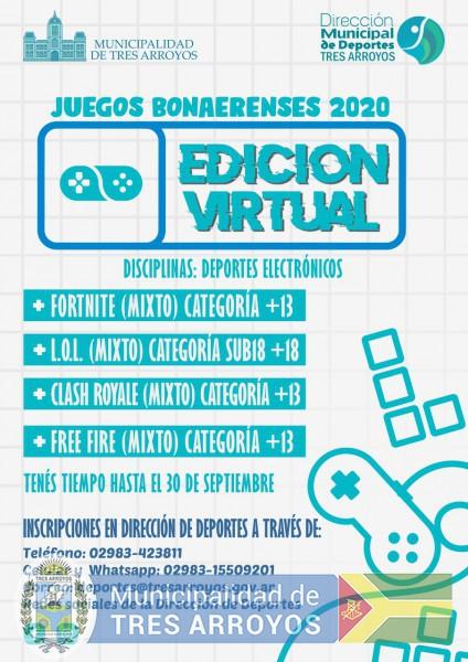 imagen 1 de la noticia ABIERTA LAS INCRIPCIONES PARA LOS JUEGOS BONAERENSES EN DEPORTES VIRTUALpublicada el 2020-08-13