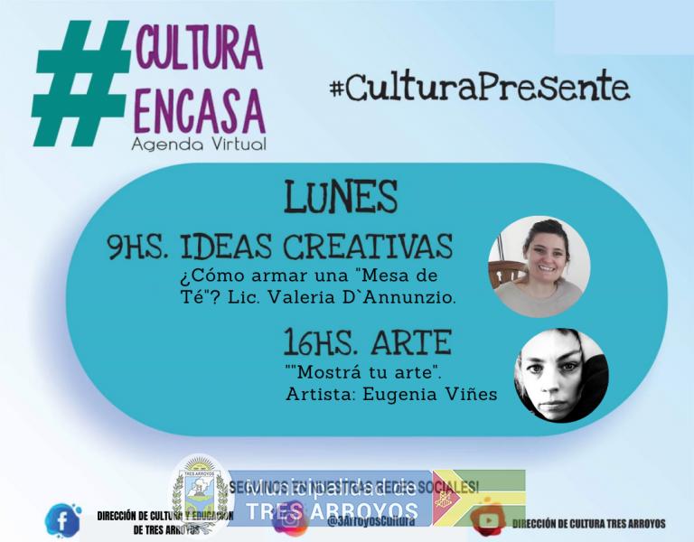 imagen 1 de la noticia  Agenda cultural virtual: lunes 21/9publicada el 2020-09-21