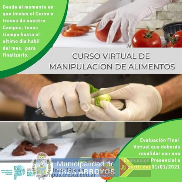 imagen 1 de la noticia CRESTA: CURSO DE MANIPULACION DE ALIMENTOSpublicada el 2020-10-29