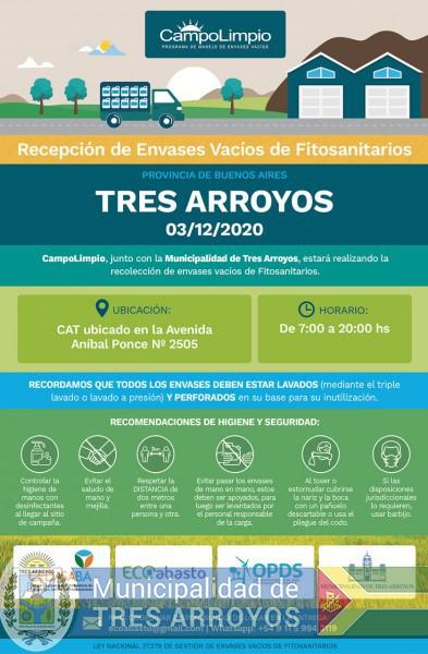 imagen 1 de la noticia SEGUNDA CAMPAÑA DE RECEPCION DE ENVASES FITOSANITARIOSpublicada el 2020-11-25