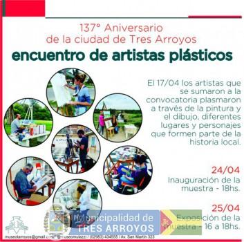 imagen 1 de la noticia ENCUENTRO DE ARTISTAS PLÁSTICOS POR EL ANIVERSARIO DE TRES ARROYOS EN EL MULAZZIpublicada el 2021-04-23