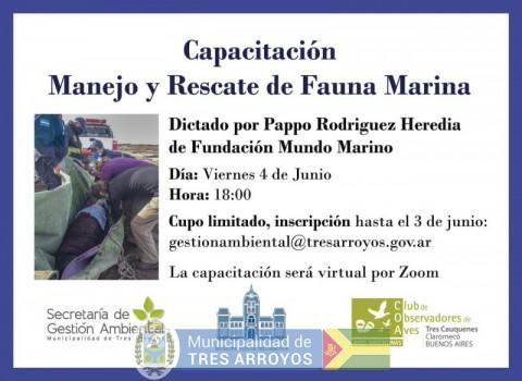 imagen 1 de la noticia Ultimo día de inscripción - Capacitación de Manejo y Rescate de Fauna Marinapublicada el 2021-06-03