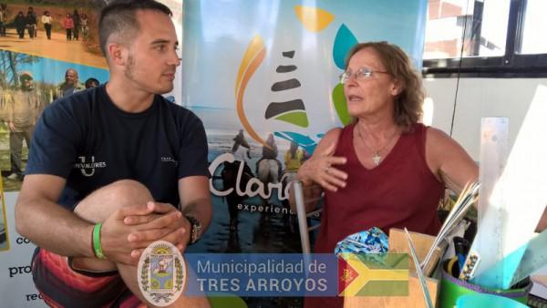 imagen 1 de la noticia Reunión del Director de Turismo Juan Moizzi, y Cristina Caballero en el Balneario de Claromecópublicada el 2018-02-06