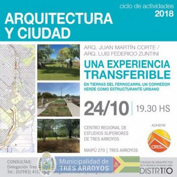 imagen 1 de la noticia Se realizará una charla acerca de arquitectura y desarrollo de ciudades en CRESTApublicada el 2018-10-17