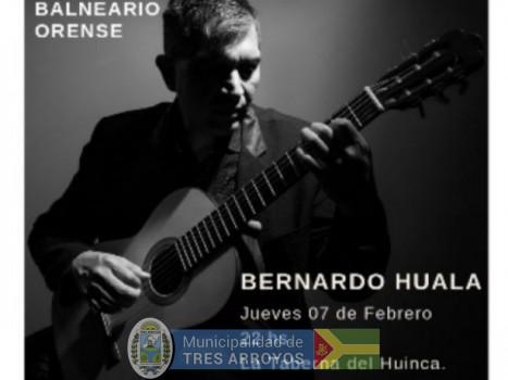imagen 1 de la noticia Concierto de Bernardo Huala en Balneario Orensepublicada el 2019-02-07