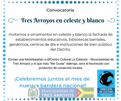 imagen 1 de la noticia CONVOCATORIA TRES ARROYOS EN CELESTE Y BLANCOpublicada el 2019-06-18