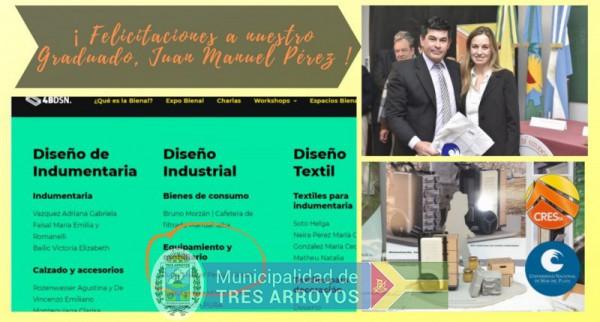 imagen 1 de la noticia Orgullo en CRESTA por la terna de un graduado local en la Bienal Nacional de Diseño publicada el 2019-08-15