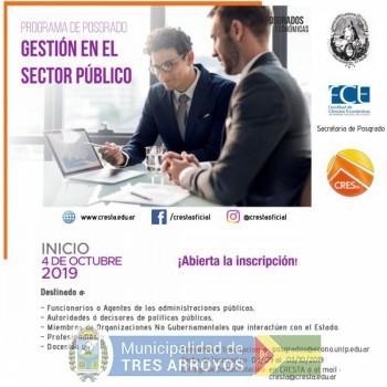 imagen 1 de la noticia Posgrado en Gestión en el Sector Publicopublicada el 2019-09-16