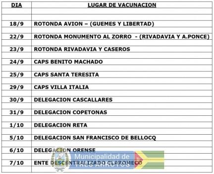 imagen 1 de la noticia Cronograma vacunacion antirrabicapublicada el 2019-10-17