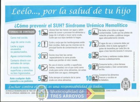 imagen 1 de la noticia Prevención: caso de síndrome uremico hemolítico en Tres Arroyospublicada el 2020-02-11