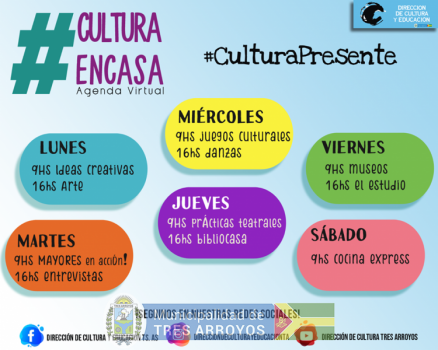 imagen 1 de la noticia Diversas actividades en la Agenda cultural virtualpublicada el 2020-06-02