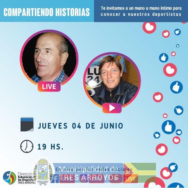 imagen 1 de la noticia HOY COMIENZA EL CICLO COMPARTIENDO HISTORIAS DE DEPORTESpublicada el 2020-06-04