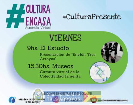 imagen 1 de la noticia Agenda cultural virtual: Viernes 09/10publicada el 2020-10-08