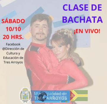 imagen 1 de la noticia Clase de bachata en vivo - sábado 10/10 - 20 hrs. - Facebook Livepublicada el 2020-10-09