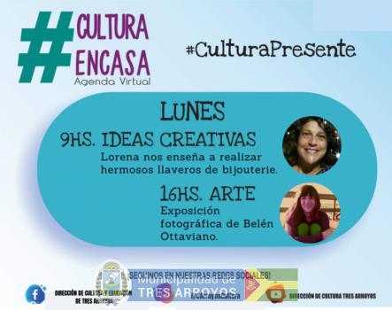 imagen 1 de la noticia Agenda cultural virtual: Lunes 19/10publicada el 2020-10-18