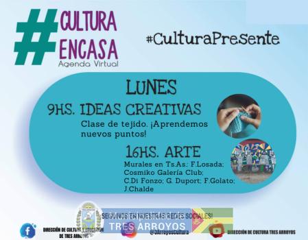 imagen 1 de la noticia Agenda cultural virtual: Lunes 26/10publicada el 2020-10-25