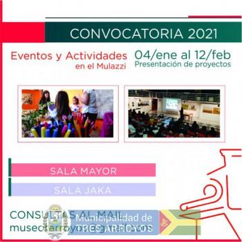 imagen 1 de la noticia CONVOCATORIAS DEL MULAZZI A EXPOSITORESpublicada el 2020-12-23
