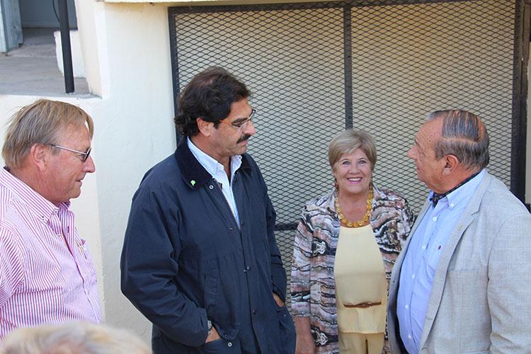 El Ministro de Agroindustria Leonardo Sarquís llegó el domingo para recorrer el predio.